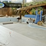 Victoria Inn pool construction