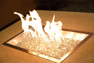 CF1224 Rectangular Crystal Fire Burner