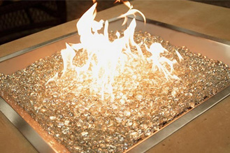 CF2424 Square Crystal Fire Burner