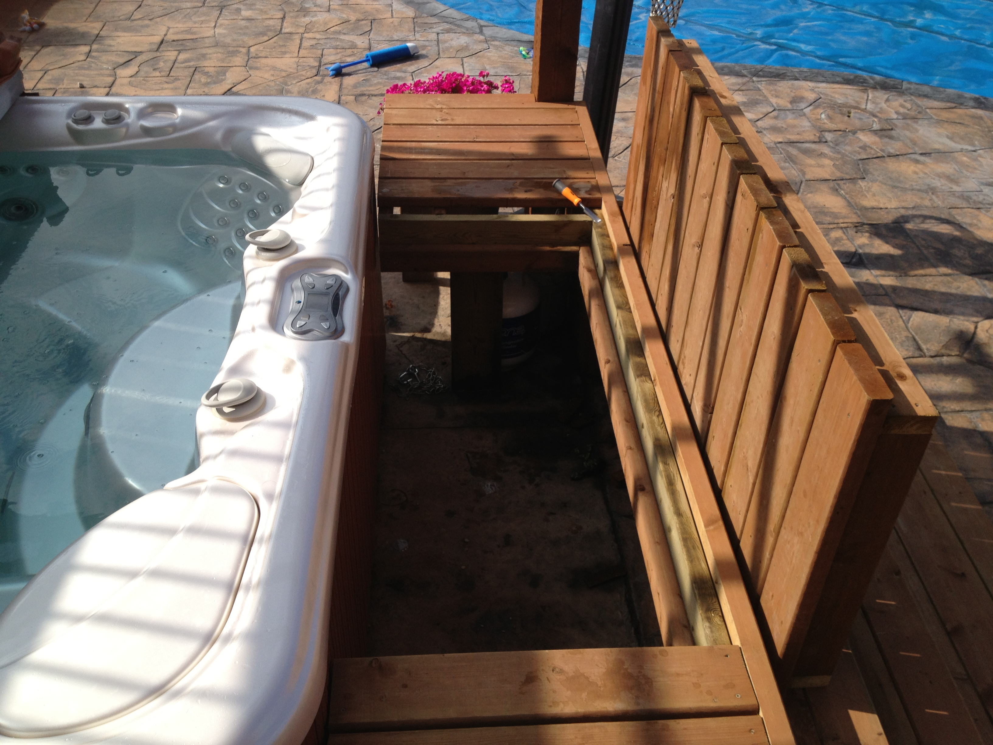 deck work hot kevin trex tub re composite fix around lemay hottub