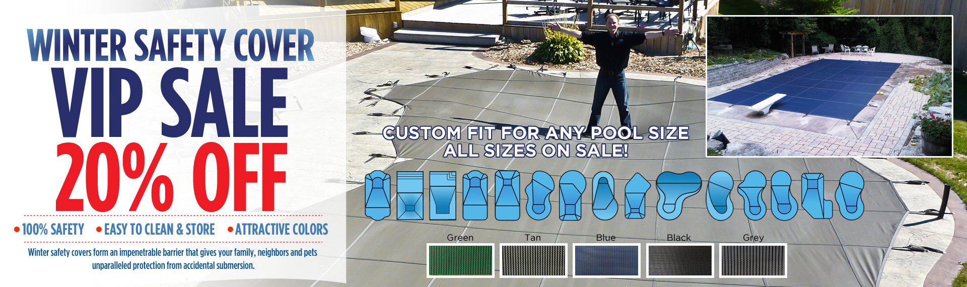 Safety Pool Covers VIP Sale