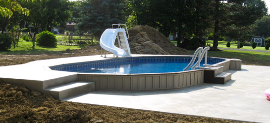 Semi Inground Pools ~ ILOVEMYOASIS.COM