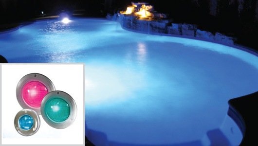 Platinum Inground Pool Package Color Logic LED Lighting