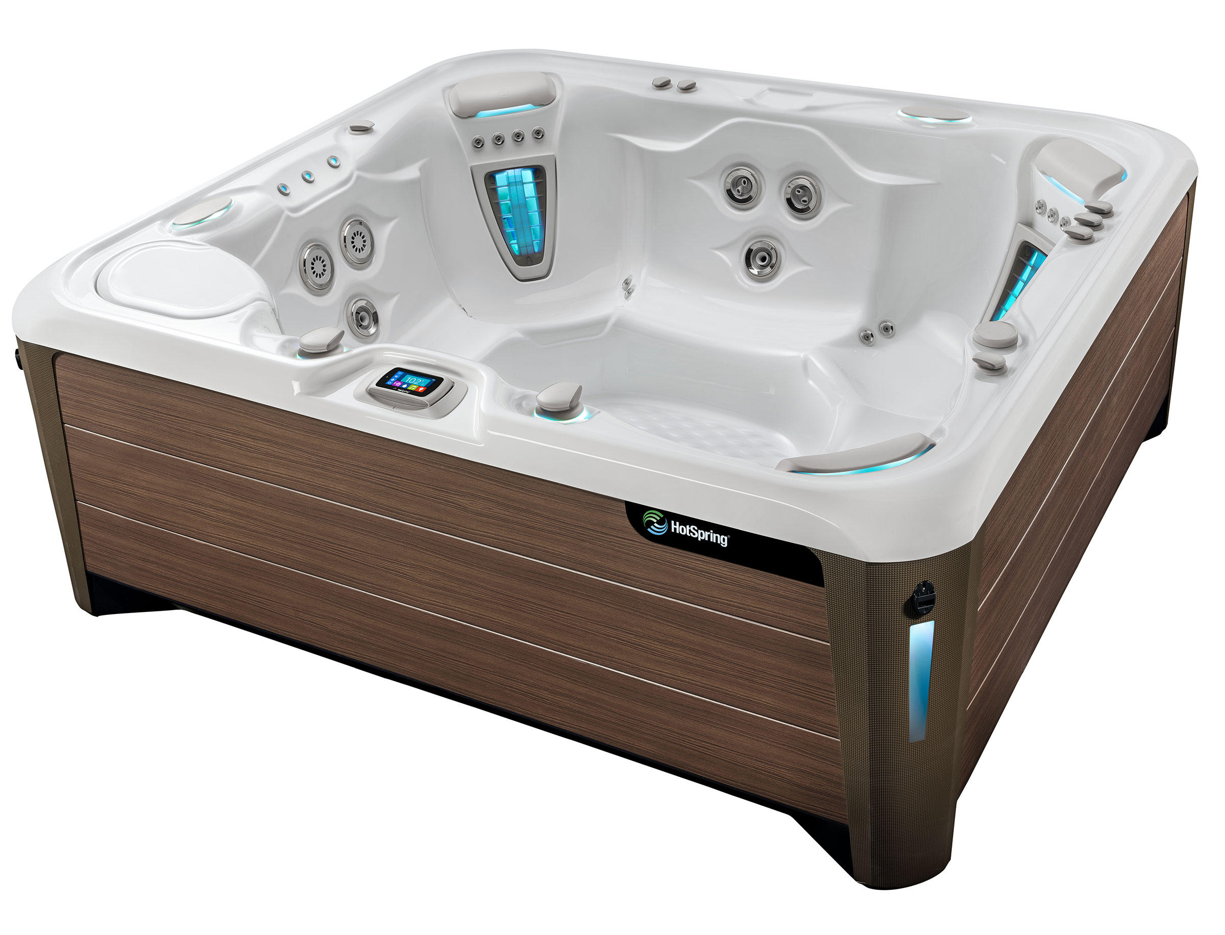 Hot Spring Highlife 2019 Grandee Alpine White Walnut High Angle