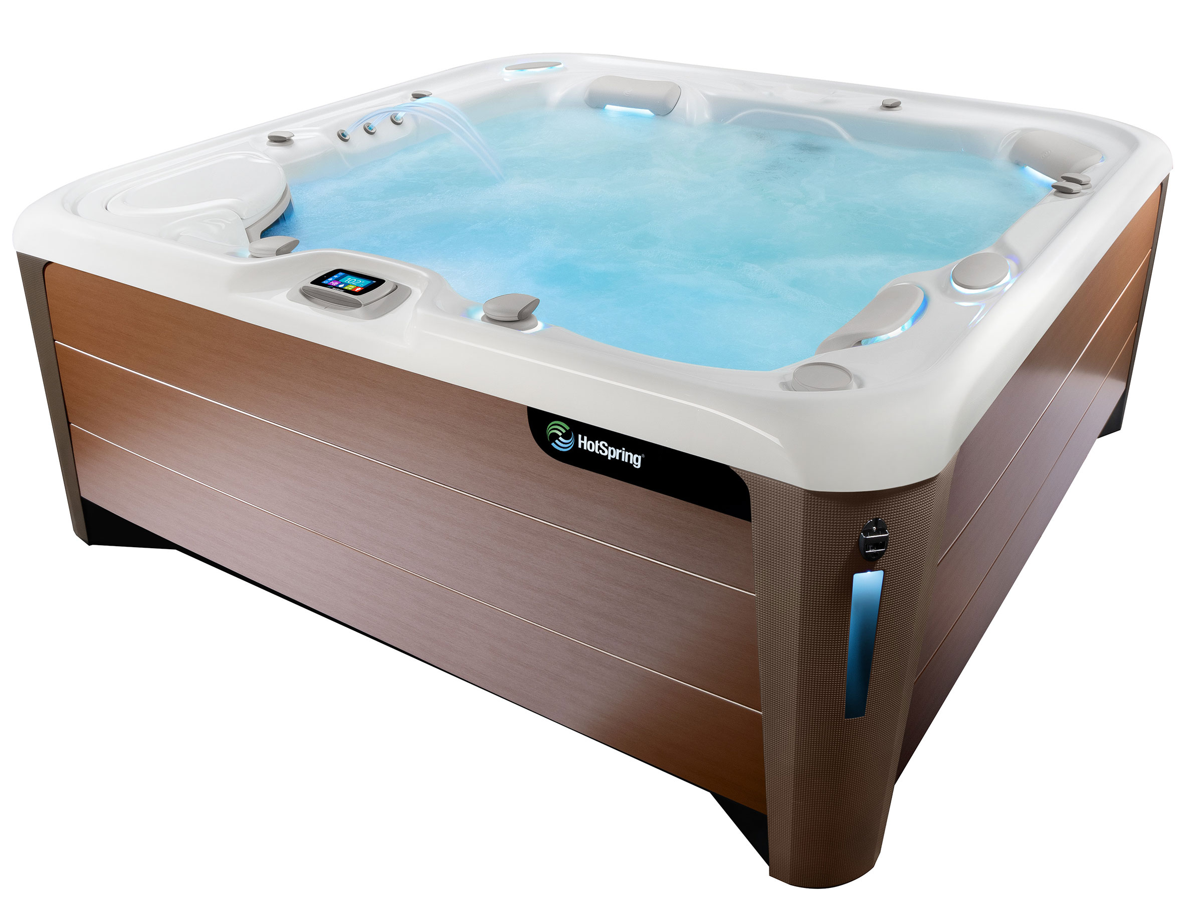 HotSpring Highlife 2019 Envoy Alpine White Bronze with water