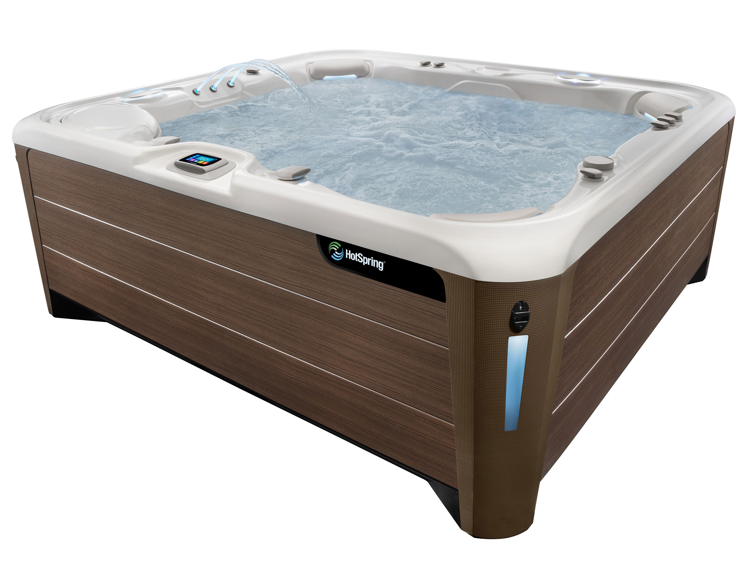 HotSpring Highlife 2019 Grandee Alpine White Bronze with water